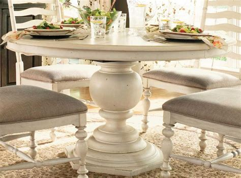 Paula Deen Home Pedestal Table In Linen By Dining