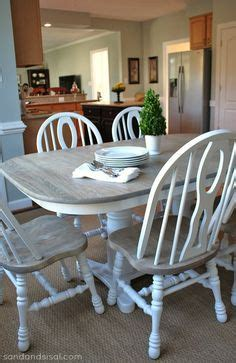 Refinish Oak Kitchen Table by Two Toned Table How To Refinish A Table Quot Weathered Oak