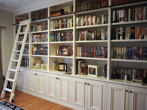 library style bookcase with ladder custom furniture perth bookcases and built in pque
