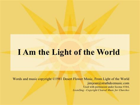 I Am The Light Of The World by Validation Messages Success Message Fail Message