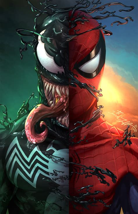 spiderman venom art print  storenvy