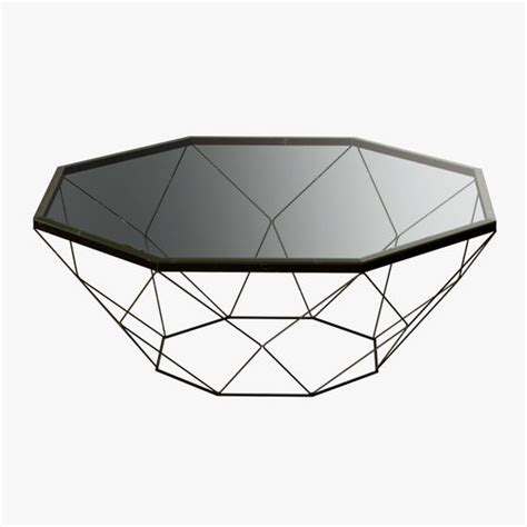 geometric antique brass coffee table with 3d model max