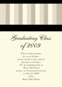 graduation announcements wording in