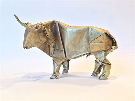 Bull Origami - origami artist sipho mabona will attempt to fold a