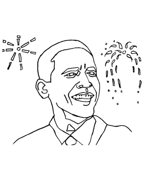 Barack Obama Coloring Page Coloring Home Obama Coloring Page