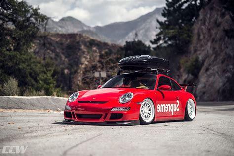 porsche wrapped supreme wrapped porsche 911 featuring ccw classic wheels