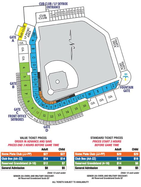 cubs stadium seating chart iowa cubs ballpark iowa cubs principal park