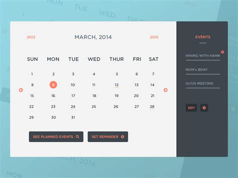 calendar event layout algorithm freebie psd calendar ui events by peter finlan dribbble