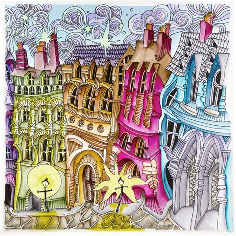Magical City Coloring Book