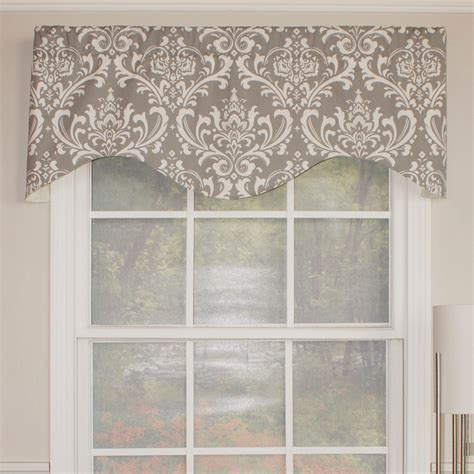 window curtains and valances rlf home royal damask cornice 50 quot curtain valance