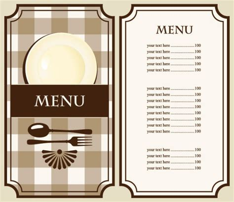 cafe menu templates free set of cafe and restaurant menu cover template vector 02