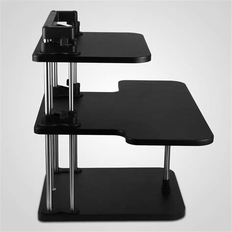 3 tier adjustable computer standing desk height adjustable