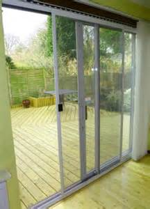 Patio Door Mesh Screen by Strong Aluminium Frames Powder Coated In White Or Brown