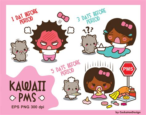crs and mood swings but no period 30 off kawaii girl clipart pms clipart period clipart