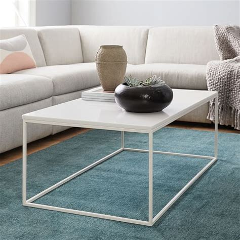 streamline coffee table elm streamline coffee table white quartz elm