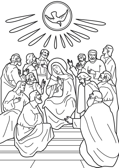 holy spirit pentecost coloring pages free coloring pages of pentecost day