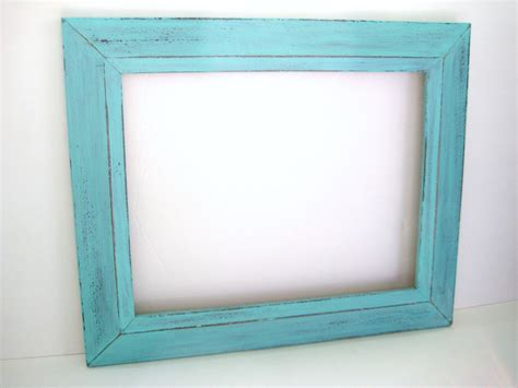 turquoise photo frame 11x14 picture frame distressed