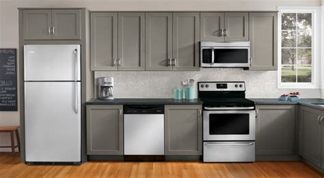 brown kitchen appliances grey themes of kitchen appliance package set on brown