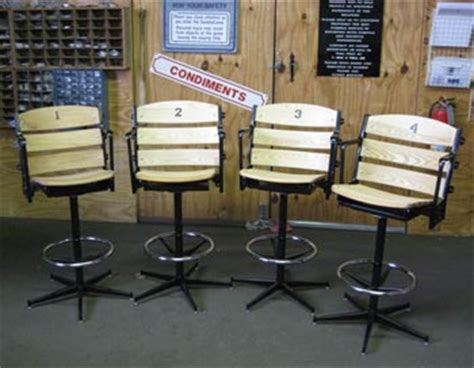 Baseball Base Bar Stools by Wrigley Field Ornaments