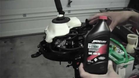 mercury outboard motor oil change mercury 3 5hp 4 stroke outboard oil change youtube