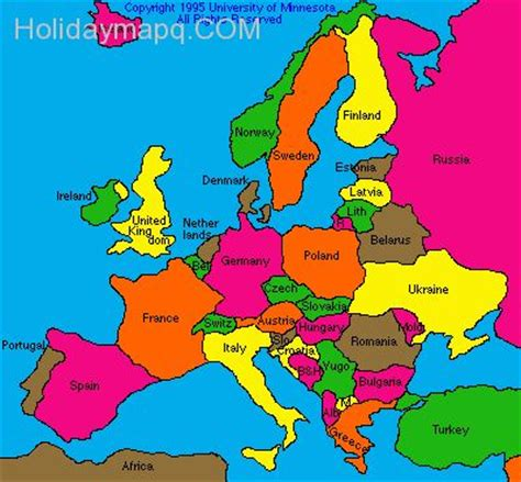 the european game the map of europe capitals quiz holidaymapq com