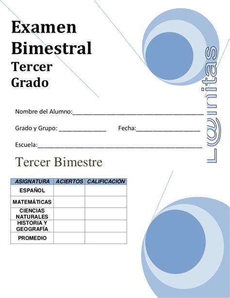 examen de tercer grado de primaria bloque 3 2016 examen 3er bimestre tercer grado