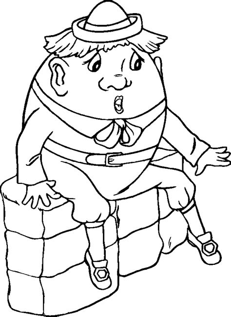 humpty dumpty coloring page coloring home