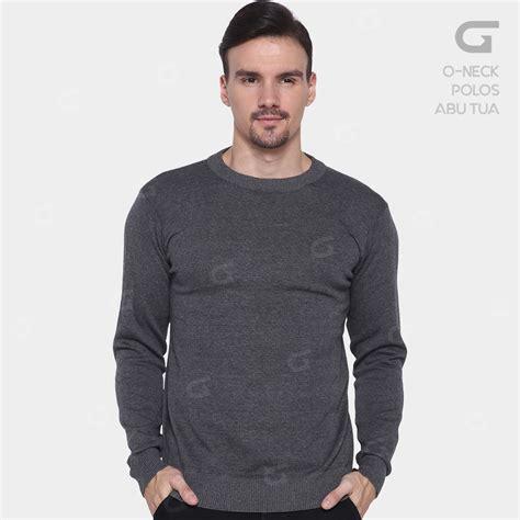 Sweater Rajut Pria 0 Neck Knit Sweater 100 Cotton gomuda sweater rajut pria o neck polos hitam navy dan abu
