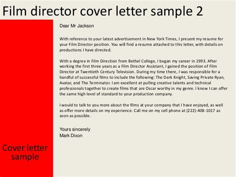 Festival Director Cover Letter by Professional Resume Tacoma