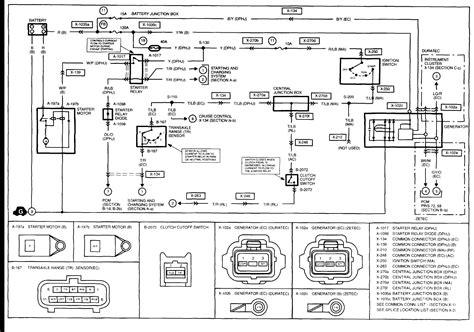 charging system wiring diagrams    mazda tribute