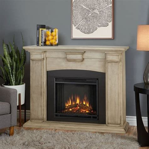 Indoor Electric Fireplace Real Adelaide Indoor Electric Fireplace In Brush White 7920e Dbw