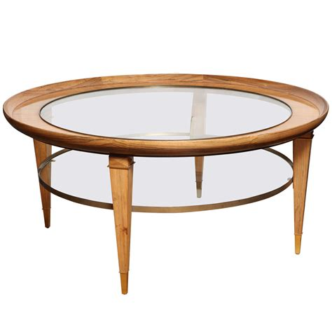 tiered coffee table a two tiered rosewood coffee table with glass top at