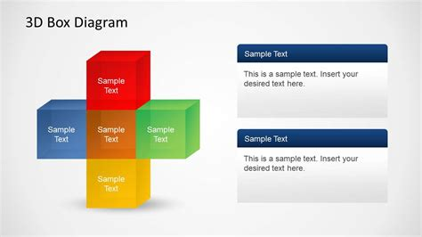 powerpoint layout text 3d box diagrams with text boxes for powerpoint slidemodel