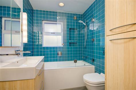bathroom with blue tile photo page hgtv
