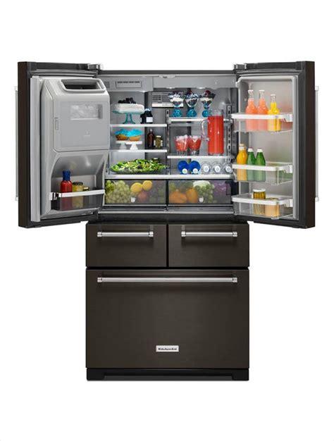 kitchenaid 36 in w 25 8 cu ft door refrigerator