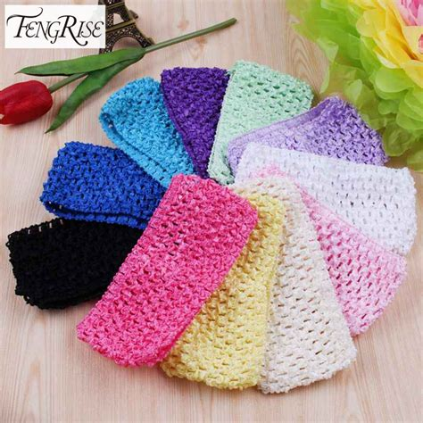 knit headband diy fengrise tulle tutu crochet elastic knit headbands apparel
