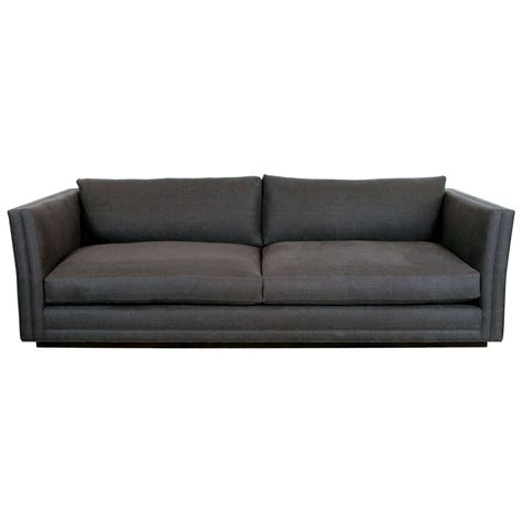 grey linen sofa nk collection modern sofa in grey linen for sale at 1stdibs