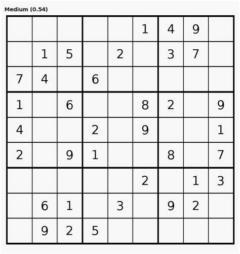 printable sudoku medium level imprimir sudoku