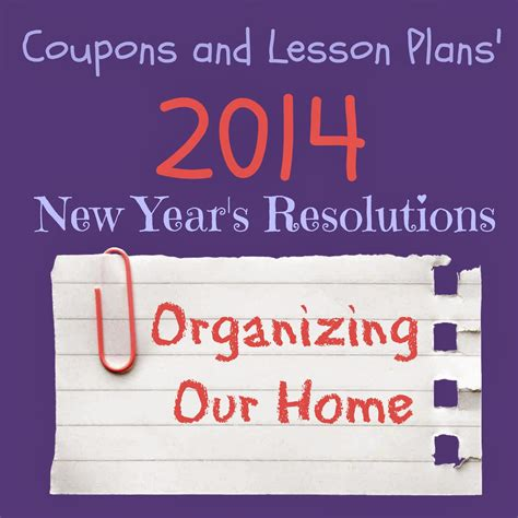 coupons and lesson plans new year s resolution 2014