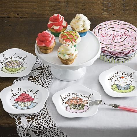 Cupcake Design Kitchen Accessories | cupcake kitchen decor plate randy gregory design