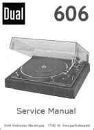 Dual 606 Turntable Service Manual Download Manuals