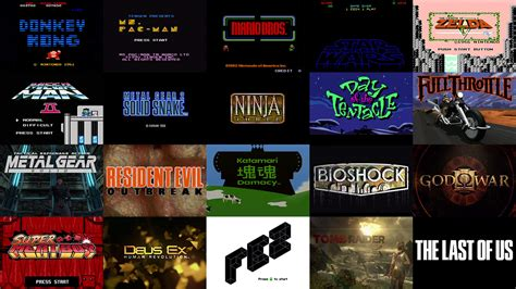video game art design a brief history of video game title design art of the title