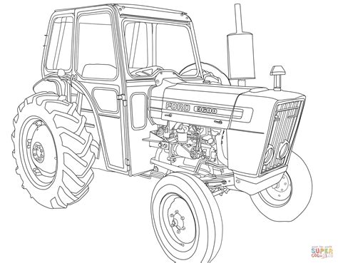 ford tractor coloring page tractor ford 3600 coloring page free printable coloring