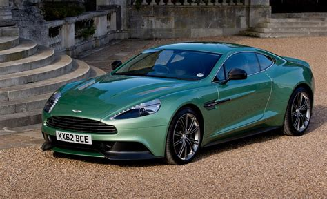 green aston martin 2013 aston martin vanquish q green parking image photo