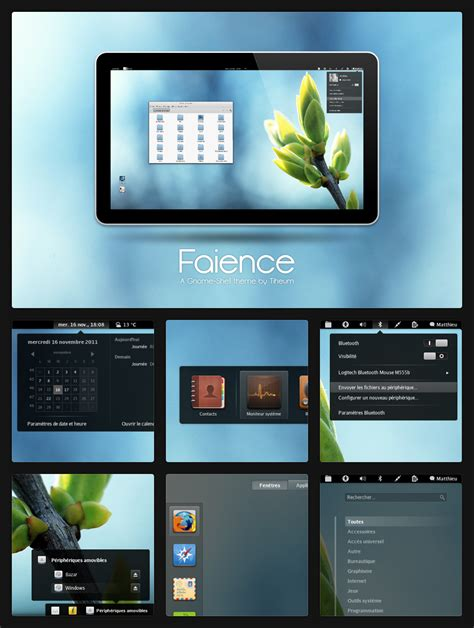 themes gnome shell 3 4 faience theme for gnome shell 3 4 unixmen
