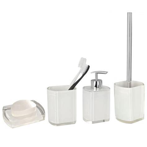 Wenko Bathroom Accessories Wenko Lido Bathroom Accessories Set White At Plumbing Uk