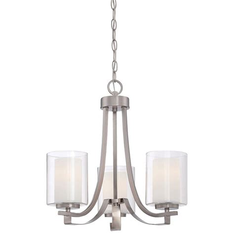 Minka Lavery Mini Chandeliers Minka Lavery Parsons Studio 3 Light Brushed Nickel Mini Chandelier 4103 84 The Home Depot