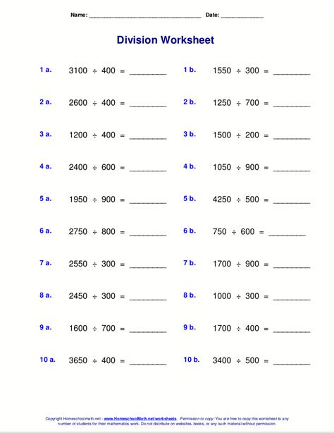 worksheets pdf worksheets for division with remainders