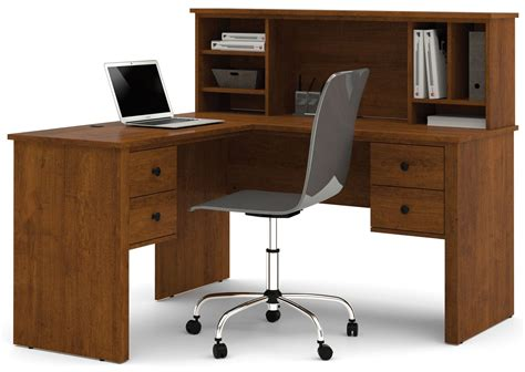 bestar somerville l shaped desk with hutch somerville tuscany brown l shaped desk with hutch from