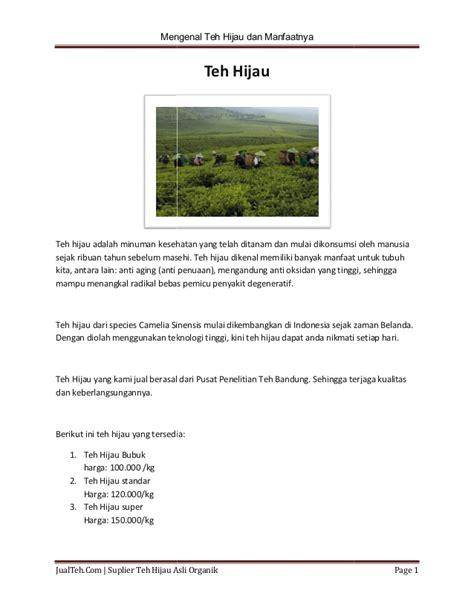 teh hijau asli indonesia murah dan berkualitas